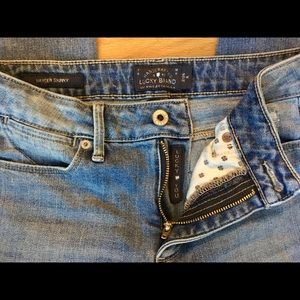 The Lucky Brand ripped jeans.